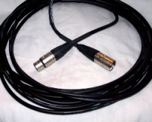 Braided Microphone cable black (6.0 mm O/D)